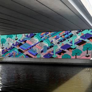 Kunstwerken in tunnels onder Anthony Fokkerweg