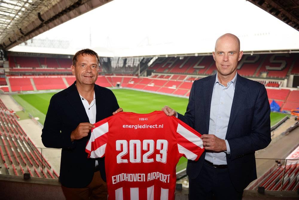 Frans Janssen (PSV) en Roel Hellemons (Eindhoven Airport). Partnership verlengd en uitgebreid
