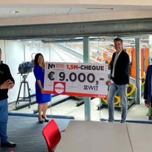 Een geweldige gift van € 9.000,- voor Theater de Schalm als bijdrage aan een boeiende zomerprogrammering