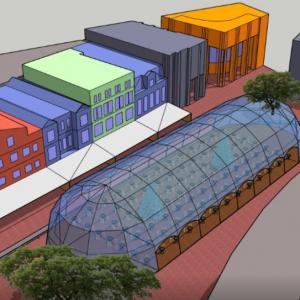 Gigantische ''iglo'' over de terrassen in Eindhoven?!