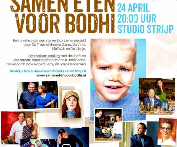 Vijf toprestaurants met acteur Mike Weerts in actie voor zieke Bodhi